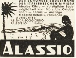 Original-Werbung/ Anzeige 1959 - ALASSIO - Ca. 60 X 45 Mm - Publicités