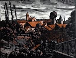 Dép. De La VIENNE - PORT-DE-PILES - BOIS ORIGINAUX GRAVES Par JEHAN BERJONNEAU EN 1932 - Gravures