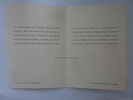 Partecipazione Nozze Marchesi Ariosti Di Tornano E Principi Di Cursi Bologna 1942 - Annunci Di Nozze