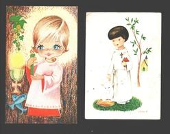 4 X Communieprentje - Image Pieuse / Religious Picture - Communion