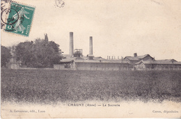 BERG19- CHAUNY DANS L'AISNE  LA SUCRERIE  CPA  CIRCULEE - Chauny