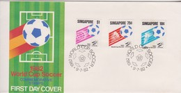 Singapore 1982 World Cup Soccer FDC - Singapore (1959-...)