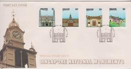 Singapore 1984 National Monuments FDC - Singapore (1959-...)