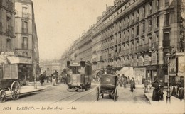 Paris - La Rue Monge - Belle Animation: Tram, Omnibus, Attelages, Chevaux... (562) - Francia