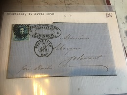 Bruxelles Lettre 1858 Vers Jolimont Avec Num.7 - Belgium