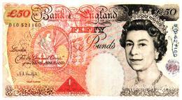 Lot 10 Billets Neufs /  England 50 Livres Fac Similé - Billets