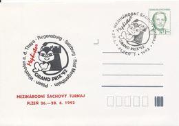 J0883 - Cecoslovacchia / Interi Postali (1992) V. Havel; Plzen 1: Torneo Internaz. Di Scacchi Mephisto GRAND PRIX '92 - Scacchi