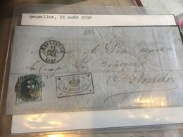 Bruxelles Ostende 1858 Avec Num.11 A - Belgium