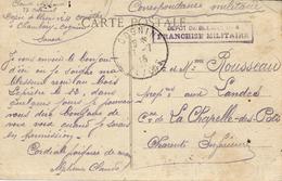 1915-C P A De  Corinthe ,près Chambéry ( Savoie ) En FM  Depôt De Blessés N°4 / Franchise Militaire - Marcophilie (Lettres)