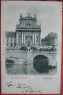 Ljubljana / Laibach - Relief-Karte Franziskaner Kirche / Wäsche Waschen - Slowenien
