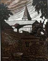Dép. De La VIENNE - PLAISANCE  - BOIS ORIGINAUX GRAVES Par JEHAN BERJONNEAU EN 1932 - Engravings