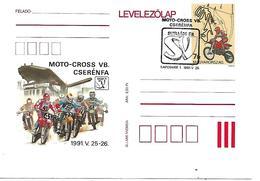 COR213 - ANNULLO UNGHERIA - MOTO MOTOCICLISMO - CARTOLINA POSTALE MOTOCROSS - KAPOSVAR 25.05.1991 - Moto