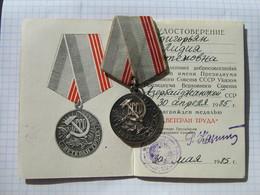 USSR Medal, Veteran Of Work, Vintage Medal, Display Medals, Soviet Memorabilia - Russia