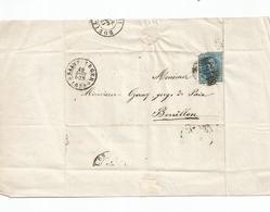 Lettre Complète De SAINT-LEGER Pour BOUILLON Du 16 Aout 1859. - 1849 Epaulettes