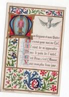 SOUVENIR DE PREMIERE COMMUNION GASTON FLAMAN  CHAPELLE DU COLLEGE ROLLIN  1887 GENEALOGIE - Devotion Images