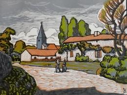 Dép. De La VIENNE - SALLES-EN-TOULON - BOIS ORIGINAUX GRAVES Par JEHAN BERJONNEAU EN 1932 - Engravings