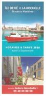 Horaires & Tarifs 2018 - Navette Maritime Ile De Ré - La Rochelle (avril à Septembre) - Europe