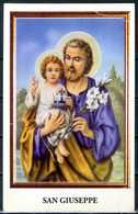 SANTINO - San Giuseppe -  Santino Con Preghiera, Come Da Scansione - Images Religieuses
