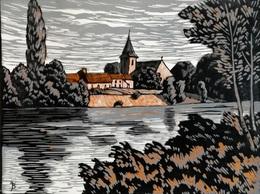 Dép. De La VIENNE - JOUHET - BOIS ORIGINAUX GRAVES Par JEHAN BERJONNEAU EN 1932 - Engravings