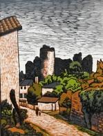 Dép. De La VIENNE - LE CHATEAU DE GENCAY - BOIS ORIGINAUX GRAVES Par JEHAN BERJONNEAU EN 1932 - Engravings