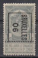 """BELGIË - PREO -1906 - Nr 1 B - BRUXELLES """"06"""" - (*) - Precancels"""