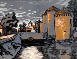 Dép. De La VIENNE - BOURG-ARCHAMBAULT - BOIS ORIGINAUX GRAVES Par JEHAN BERJONNEAU EN 1932 - Engravings