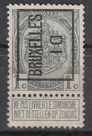 """BELGIË - PREO -1910 - Nr 13 A  Type I - BRUXELLES """"10"""" - (*) - Precancels"""