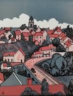 Dép. De La VIENNE - BRIGUEIL-LE-CHANTRE   - BOIS ORIGINAUX GRAVES Par JEHAN BERJONNEAU EN 1932 - Engravings