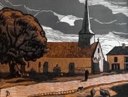Dép. De La VIENNE - COULONGES  - BOIS ORIGINAUX GRAVES Par JEHAN BERJONNEAU EN 1932 - Engravings