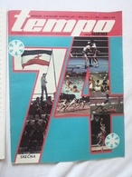 1974 TEMPO YUGOSLAVIA SERBIA SPORT FOOTBALL MAGAZINE NEWSPAPERS WM74 CHAMPIONSHIPS WOMAN HANDBALL Anatoly Karpov CHESS - Deportes