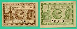 10 Centimes Et 25 Centimes - Belgique - 1918 - Nécessité - Gemeente Wettere - TTB - - [ 2] 1831-... : Royaume De Belgique
