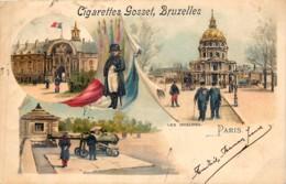 France - 75 - Paris - 11 Litho Type Gruss Aus - Série 535 - Avec Publivité Cigarettes Gosset , Bruxelles - Autres