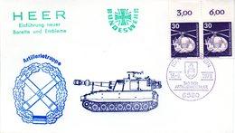 "(BWH1) BRD Cachetumschlag BW HEER ""Artillerietruppe-Einführung Neuer Barette Und Embleme"" SSt 16.9.1979 IDAR-OBERSTEIN - [7] République Fédérale"