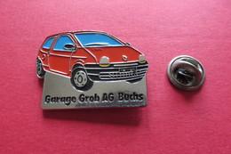 Pin's,Voiture RENAULT GARAGE GROB AG,Suisse - Renault