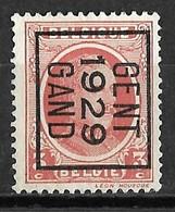 Gent 1929  Typo Nr. 186B - Préoblitérés
