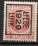 Luik 1929  Typo Nr. 188B - Voorafgestempeld