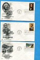 U S A -F D C - -LOT De 6enveloppes Illustrées Années 1983 - 1981-1990