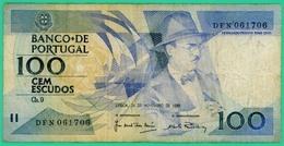 100 Escudos - Portugal - 1988 - N° DFN 061706 - TB+ - - Portugal