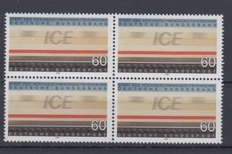 Bund 1530 4er Block Fahrender ICE ZUG 60 Pf Postfrisch - BRD