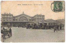 TRANSPORT PARIS GARE DE L'EST Avec Autobus Autocar Devant La Bouche De Métro - Circulé Vers MOISSAC - Bus & Autocars