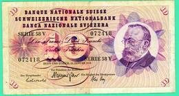 10 Francs - Suisse - Janvier 1969 - N° - 072418 - TB+ - - Suisse