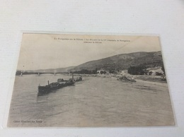 § RARE § 07 - La Navigation Sur Le Rhône Le Missouri Remonte Le écrite - Sonstige Gemeinden