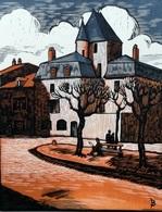 Dép. De La VIENNE - POITIERS  - BOIS ORIGINAUX GRAVES Par JEHAN BERJONNEAU EN 1932 - Engravings