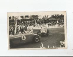 PERPIGNAN LES PLATANES (66) CIRCUIT DU GRAND PRIX AUTOMOBILE DU ROUSSILLON 1947 CARTE  PHOTO PILOTES A LA LUTTE - Perpignan