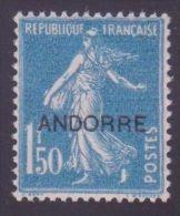 """ANDORRE STAMP TIMBRE N° 13 """" SEMEUSE 1F50 BLEU """" NEUF Xx TTB - Andorre Français"""