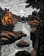 Dép. De La VIENNE - LE ROC D'ENFER  - BOIS ORIGINAUX GRAVES Par JEHAN BERJONNEAU EN 1932 - Engravings