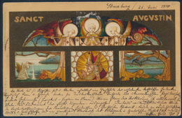 Ansichtskarte Straßburg Nach Unkel 1905 Sankt Augustin Kirchenbild Elsaß - Deutschland