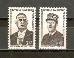 NOUVELLE CALEDONIE Anniversaire De La Mort Du Général De Gaulle Yvert 377 378 NEUF Sans Charnières - Nouvelle-Calédonie