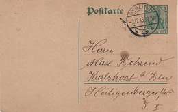 Postkarte Ganzsache Deutsches Reich Kaiserreich Stempel Berlin 1915 Behrend Karlshorst Heiligenberger Str 5 - Briefe U. Dokumente