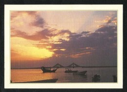 Bahrain Picture Postcard Scenic Sunset Over Manama View Card - Bahrain